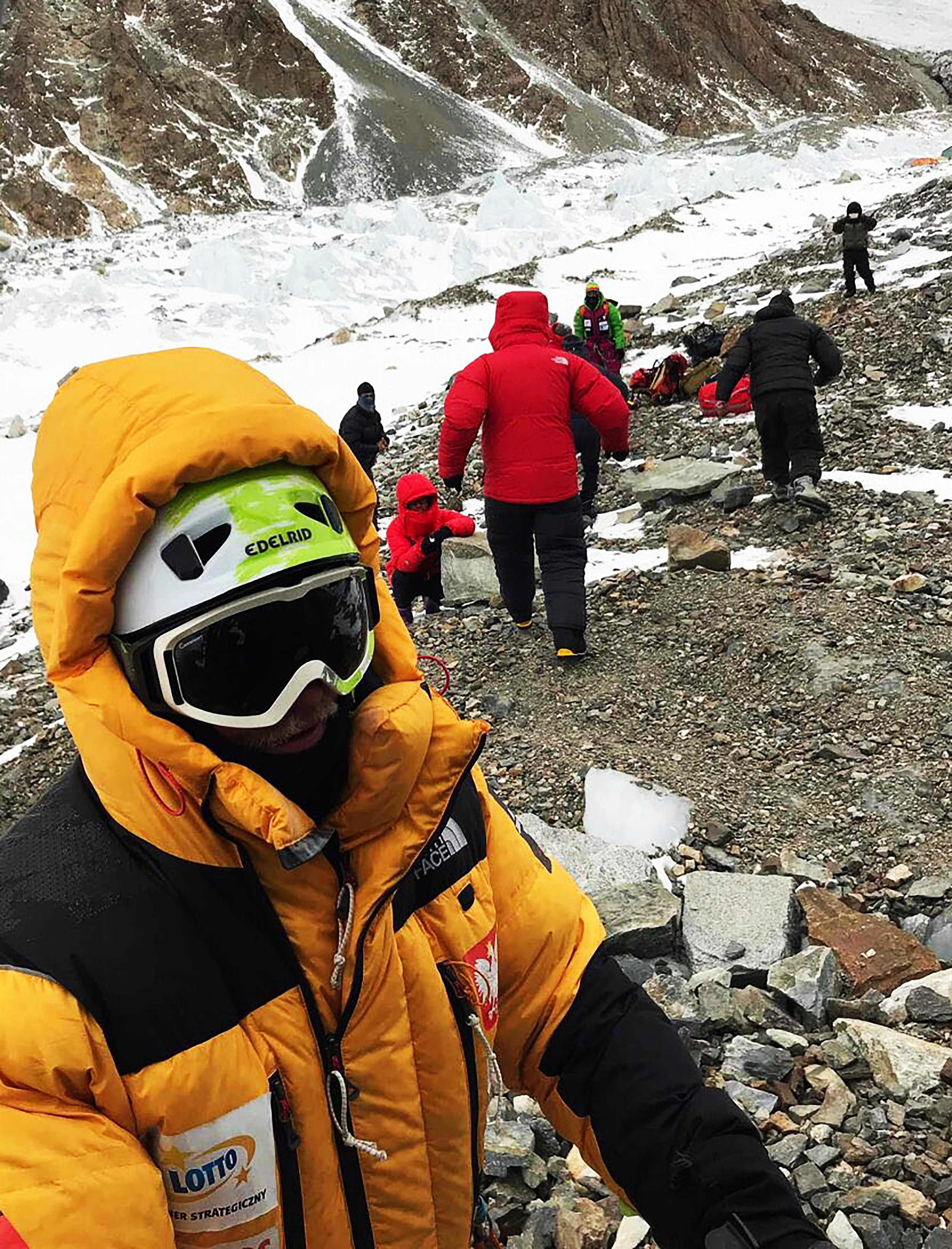 Polish climber Tomasz Mackiewicz in Nanga Parbat. —AFP