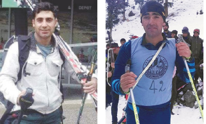 MOHAMMAD Karim...another feather in cap after 2014 Sochi Games participation.  /  Syed Haman Shah...has trained in Turkey and Czech Republic for the Games.