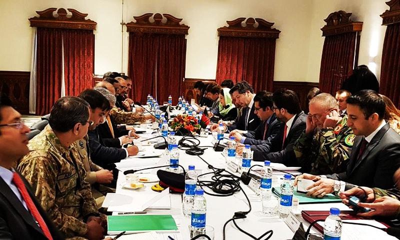 Foreign Secretary Tehmina Janjua led the Pakistani delegation while Afghan Deputy Foreign Minister Hekmat Khalil Karzai was leading the Afghan side.—Photo courtesy: FO