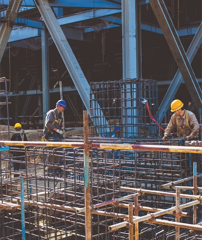 Construction work continues rapidly at the 660 MW power plant