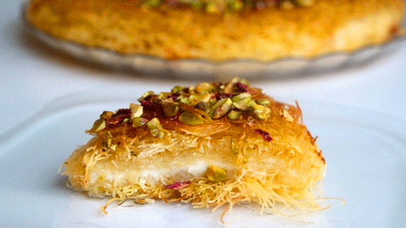 Falling in love with this cheesy dessert. Photo: afooda