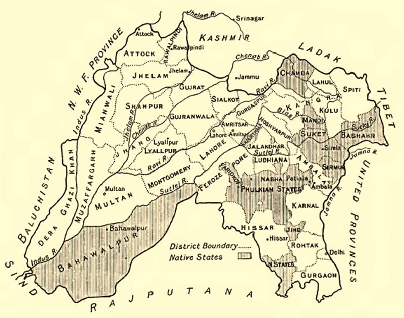 ریاستِ نابھ کا نقشہ۔