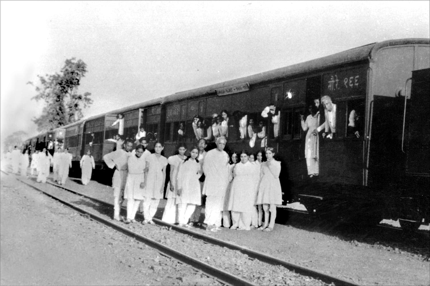 Train to Mount Abu, India in May 1950.