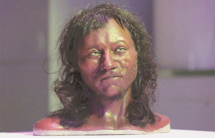 DNA shows ancient Briton had dark skin, blue eyes