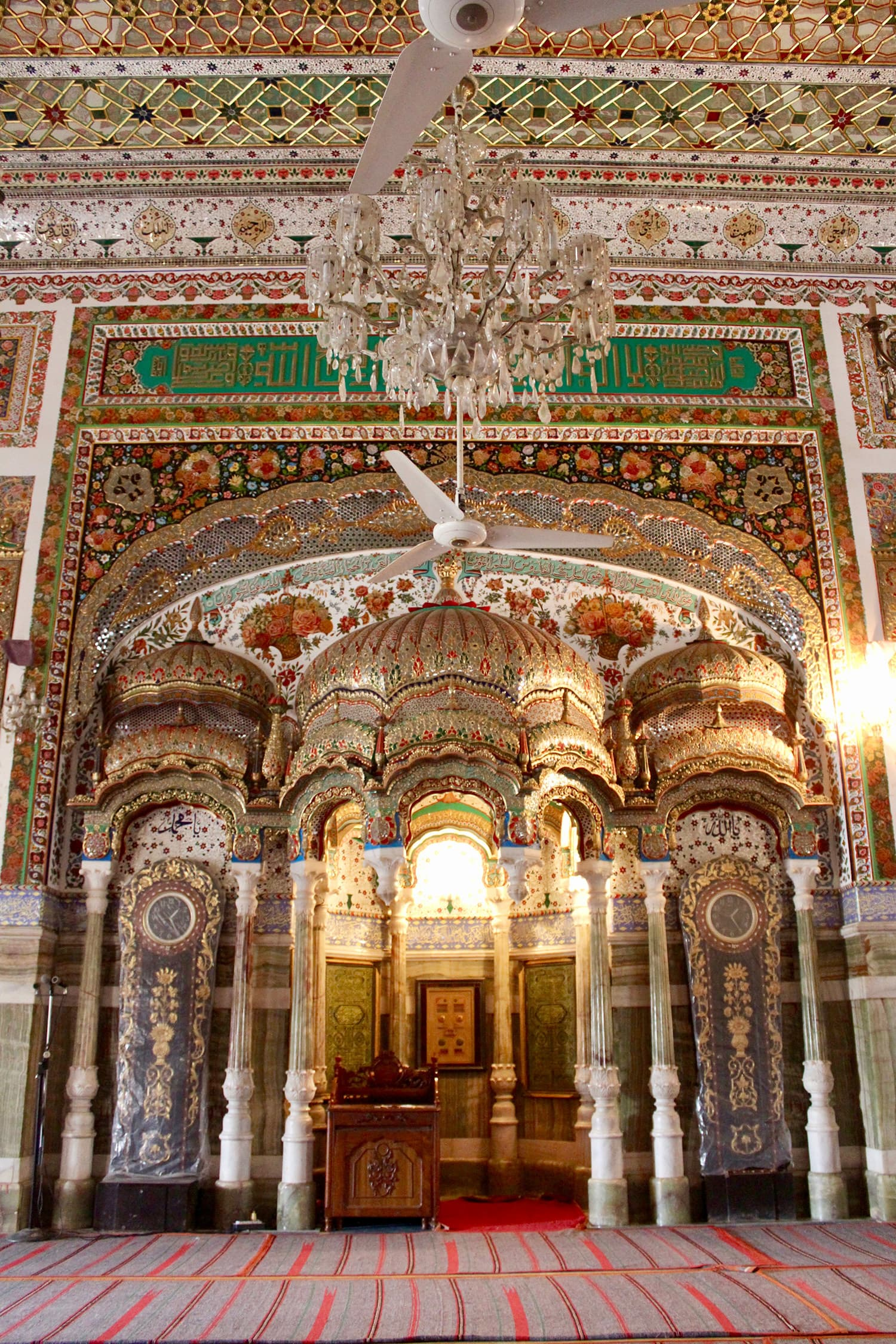 The mihrab at Bhong Mosque.