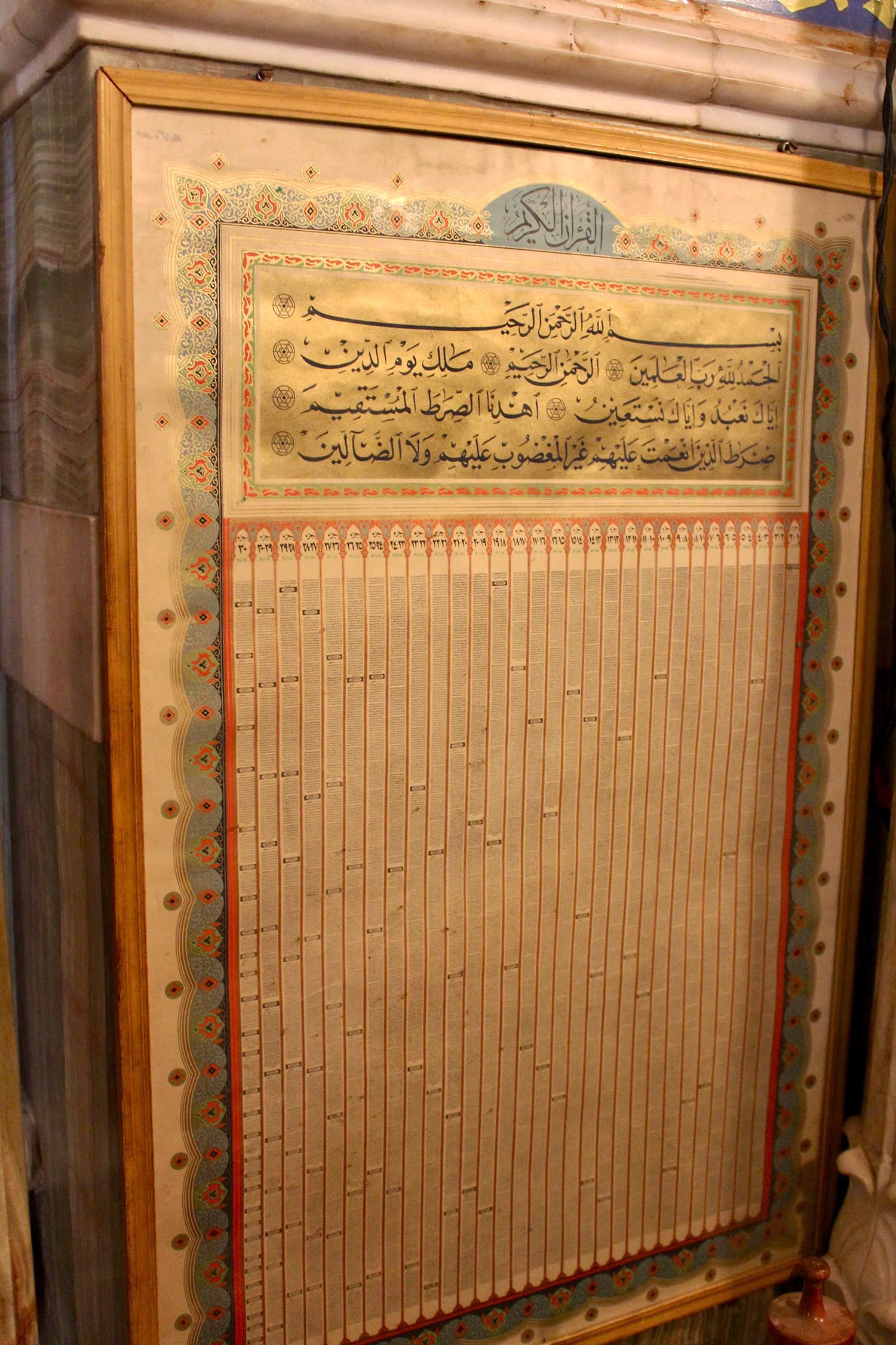 The entire Quran on one piece of parchment.