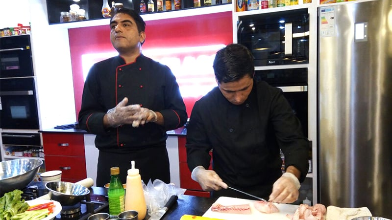 The sushi masters - Chef Faizan Rehmat received training in Japan and has worked at Avari and Ouishi Sushi in the past