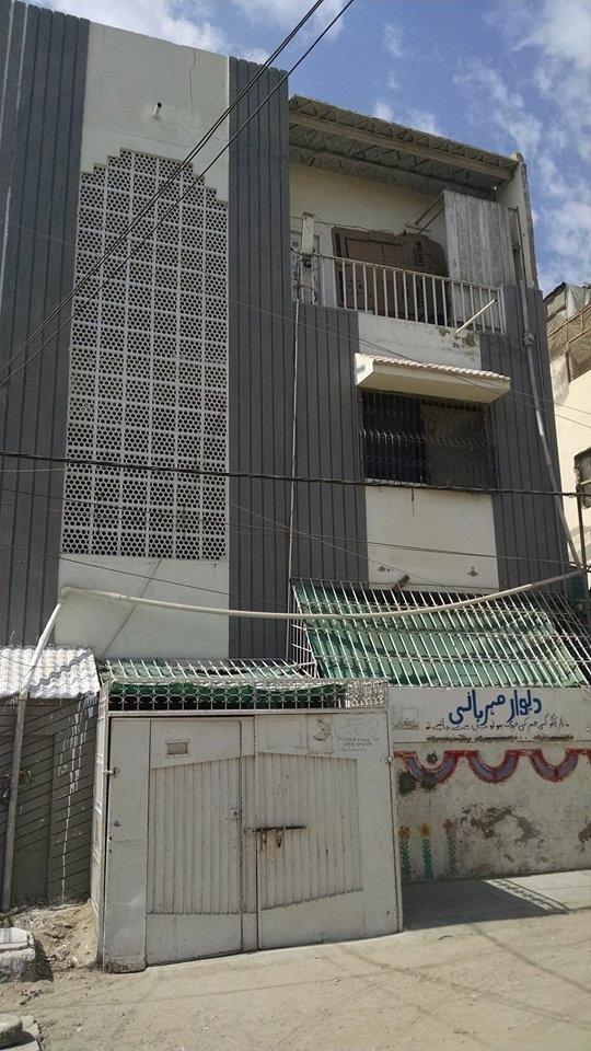 دو منزلہ عمارت میں فہد کا اسکول—تصویر سدرہ ڈار