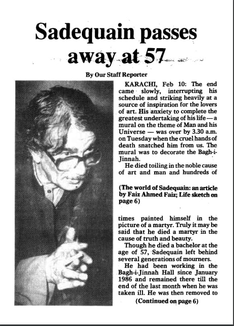 Snippet of story run by *Dawn* on February 11, 1987.