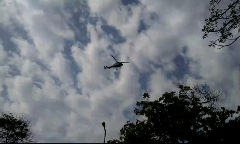 A helicopter monitoring the progress of the rehearsal — *DawnNews*