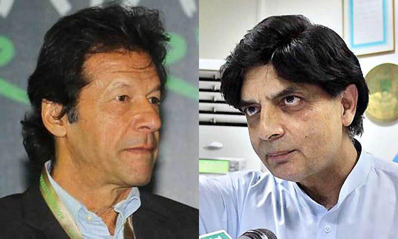 Imran advises Nisar to join PTI