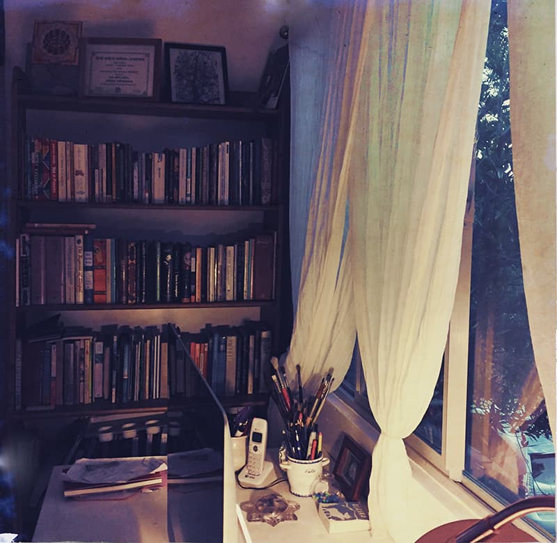The author's studio before it was burned down. —All photos by the author