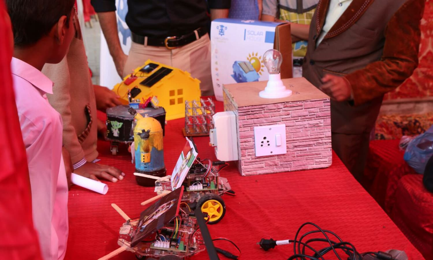 A model at Thar Science Festival — Photo by author