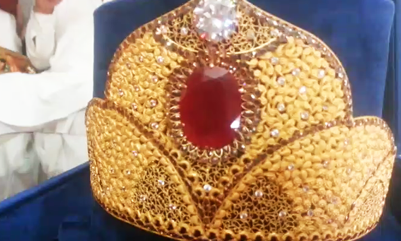 A photograph of the crown made specially for Maryam Nawaz. ─ DawnNews