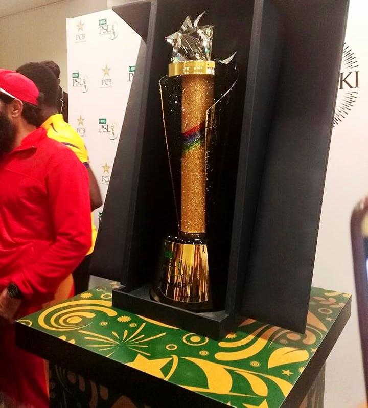 A shot of the PSL 2018 trophy. ─ Photo by Sukena Rizvi.