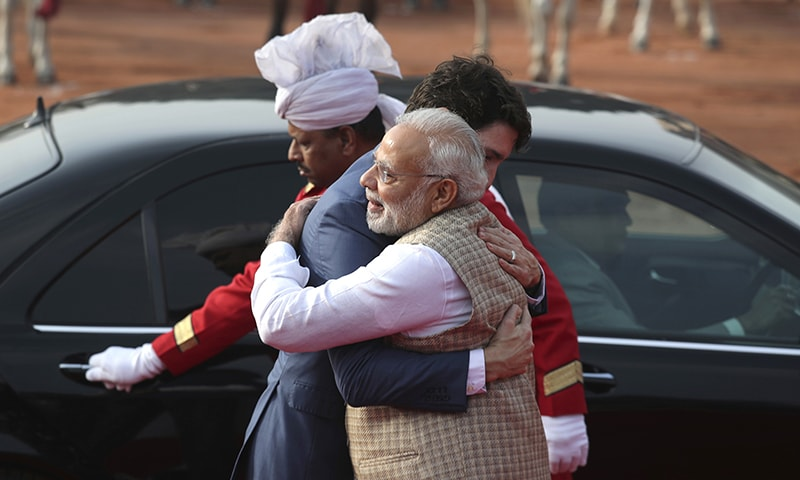Modi hugs Trudeau amid Indo-Canada invitation embarrassment