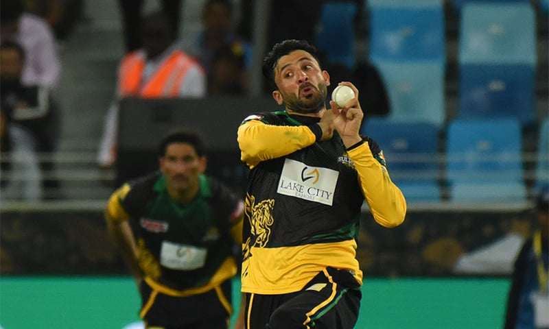 Junaid Khan in action — PSL
