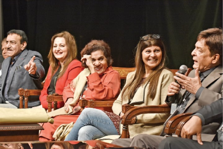 TV and film atrists enjoy a lighter moment at the National Artists Convention on Saturday. — Photo by Tanveer Shahzad