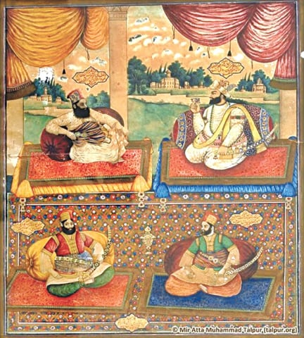 The four Talpur brothers comprising the First Chauyari: Mir Fateh Ali, Mir Ghulam Ali, Mir Karam Ali and Mir Murad Ali | Photo from the book