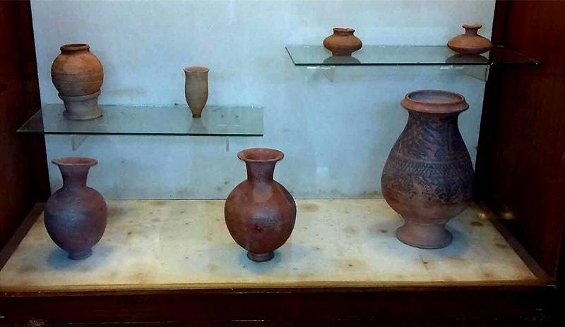 Earthenware jars belonging to the Indus Valley civilisation