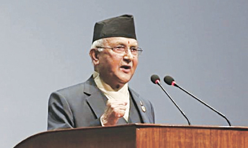 NEPAL'S new Prime Minister Khadga Prasad Sharma Oli, whose UML party is leading a coalition with former Maoist rebels.—Reuters
