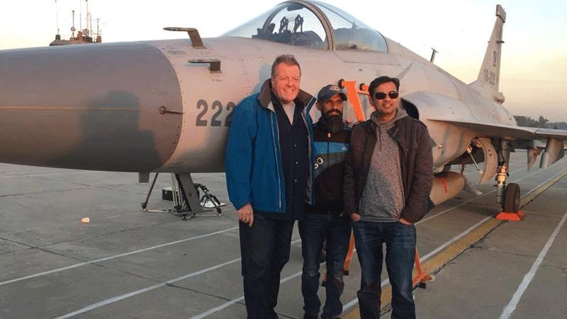 Riki with Sherdil director Azfar Jafri (right)
