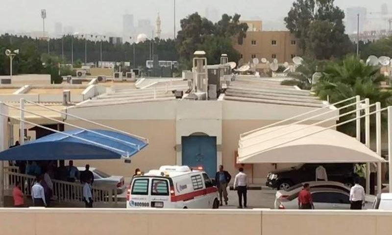 دبئی کا راشد ہسپتال جہاں اداکارہ کا پوسٹ مارٹم کیا گیا—فوٹو: خلیج ٹائمز