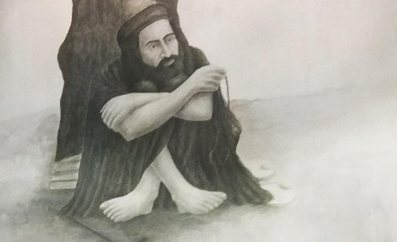 شاہ عبداللطیف بھٹائی کی ایک خیالی تصویر—تصویر شبینہ فراز