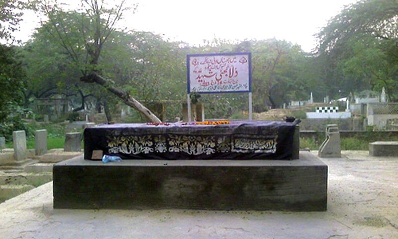 Dulla Bhatti's grave at the Miani Sahib Qabristan in Lahore. — Photo: Wikimedia Commons