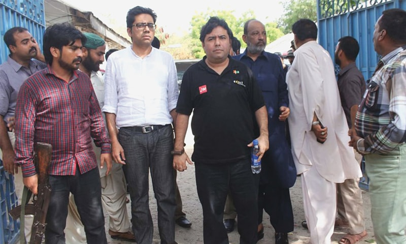 Axact CEO Shoaib Shaikh arrives at court