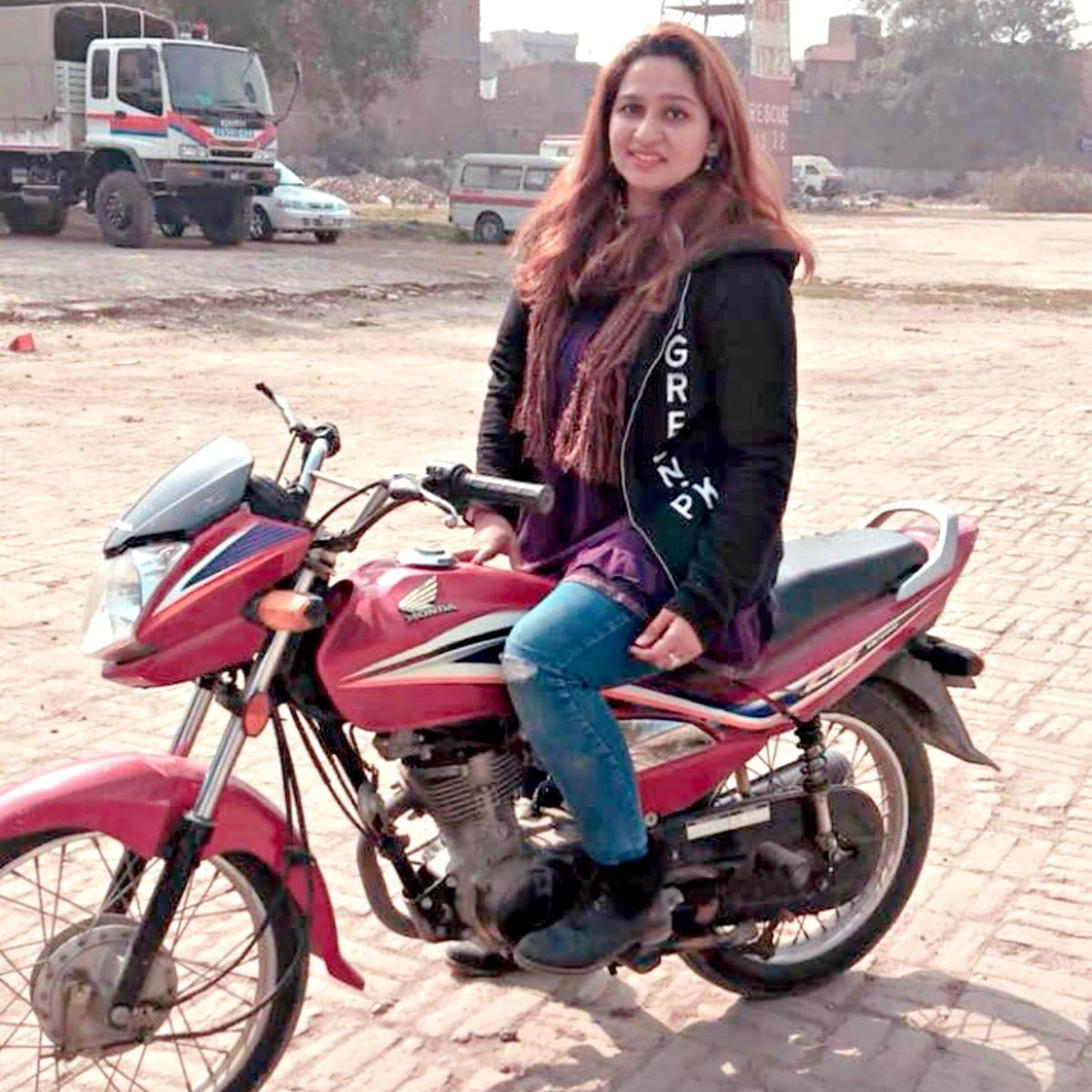 Graphic designer Nimra Saleem is an avid biker who believes that harassment of female commuters occurs regardless of the type of vehicle they drive