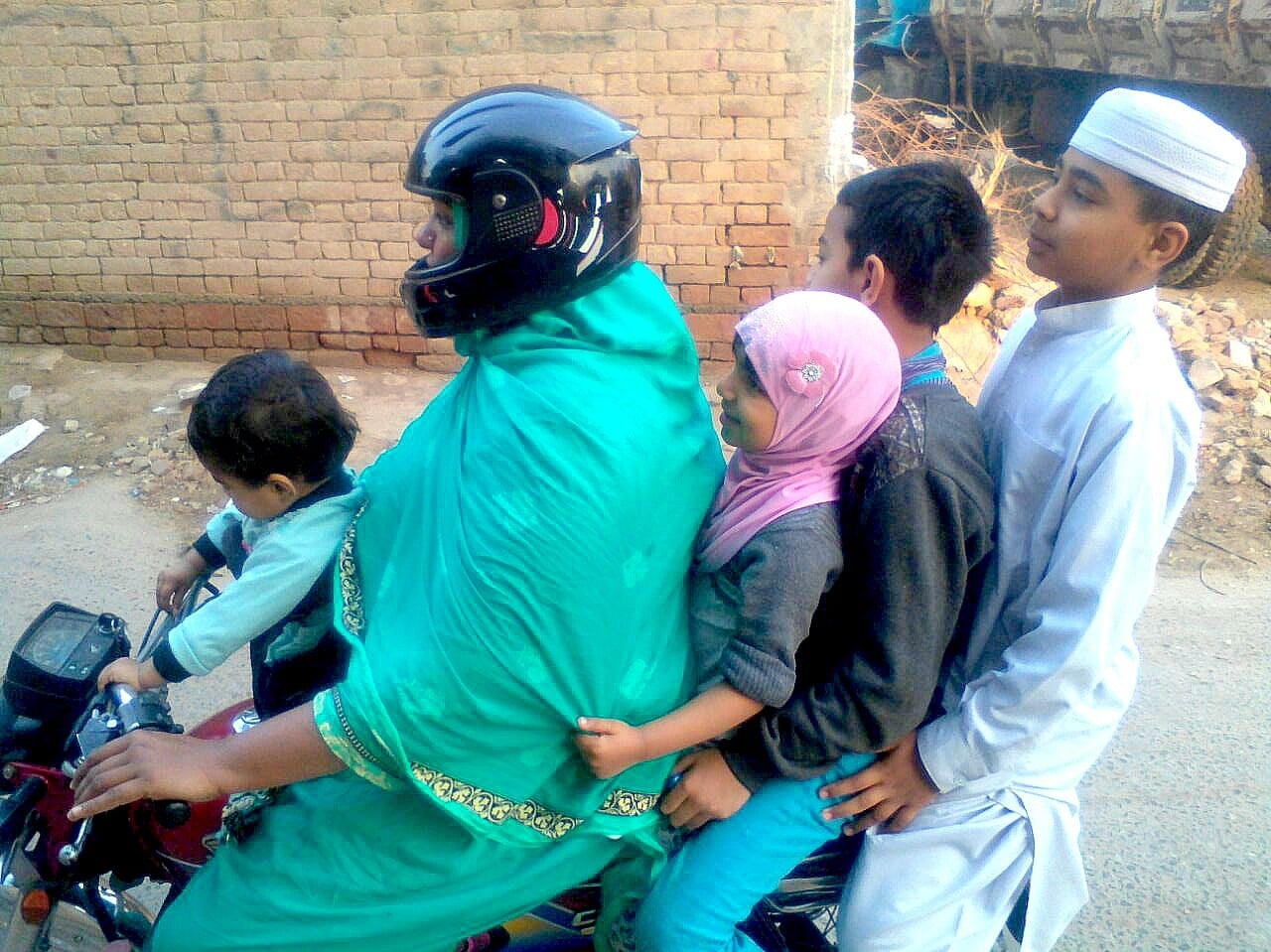 Ayesha Naeem enjoys the independence that comes with owning and riding a motorcycle