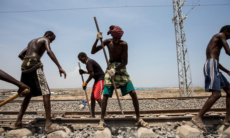 ایتھوپیا سے جبوتی تک ریلوے لائن کی تعمیر کا کام چینی سرمایہ کاری سے مکمل ہوا — اے پی فائل فوٹو