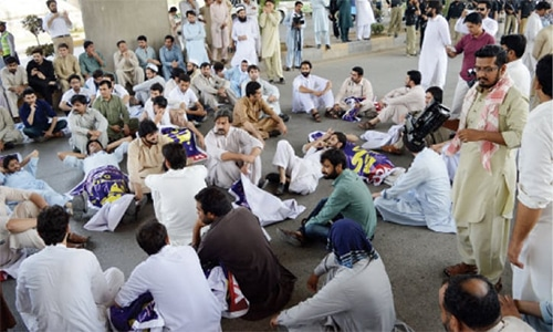 Doctors protest 'kidnapping' of Baloch medical student in Quetta