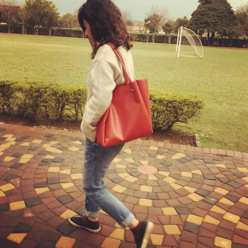 My red bag! I think I have a thing for the colour red.