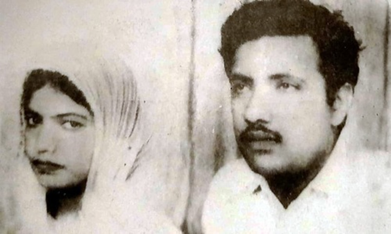 Jam Saqi with his first wife, Sukhan. —Photo from Ahmed Saleem and Nuzhat Abbas' biography of Jam Saqi