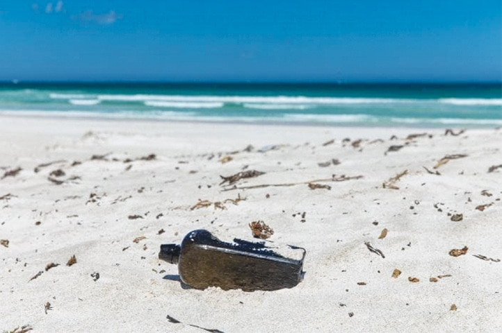 A BOTTLE that contains an almost 132-year-old message recently discovered in Australia.  —KymIllman.com / The Washington Post