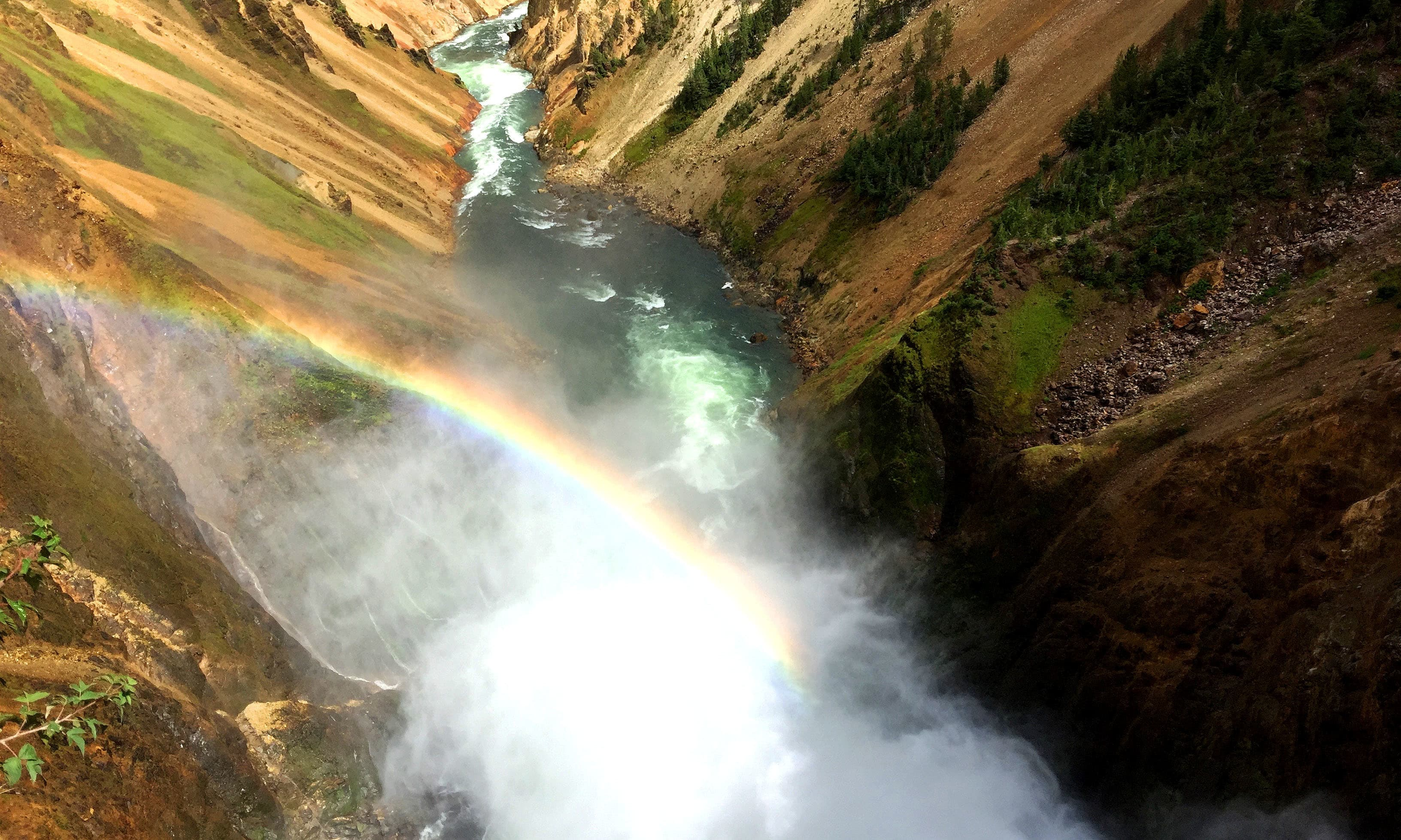 Upper Falls with a rainbow. —Hassan Majeed