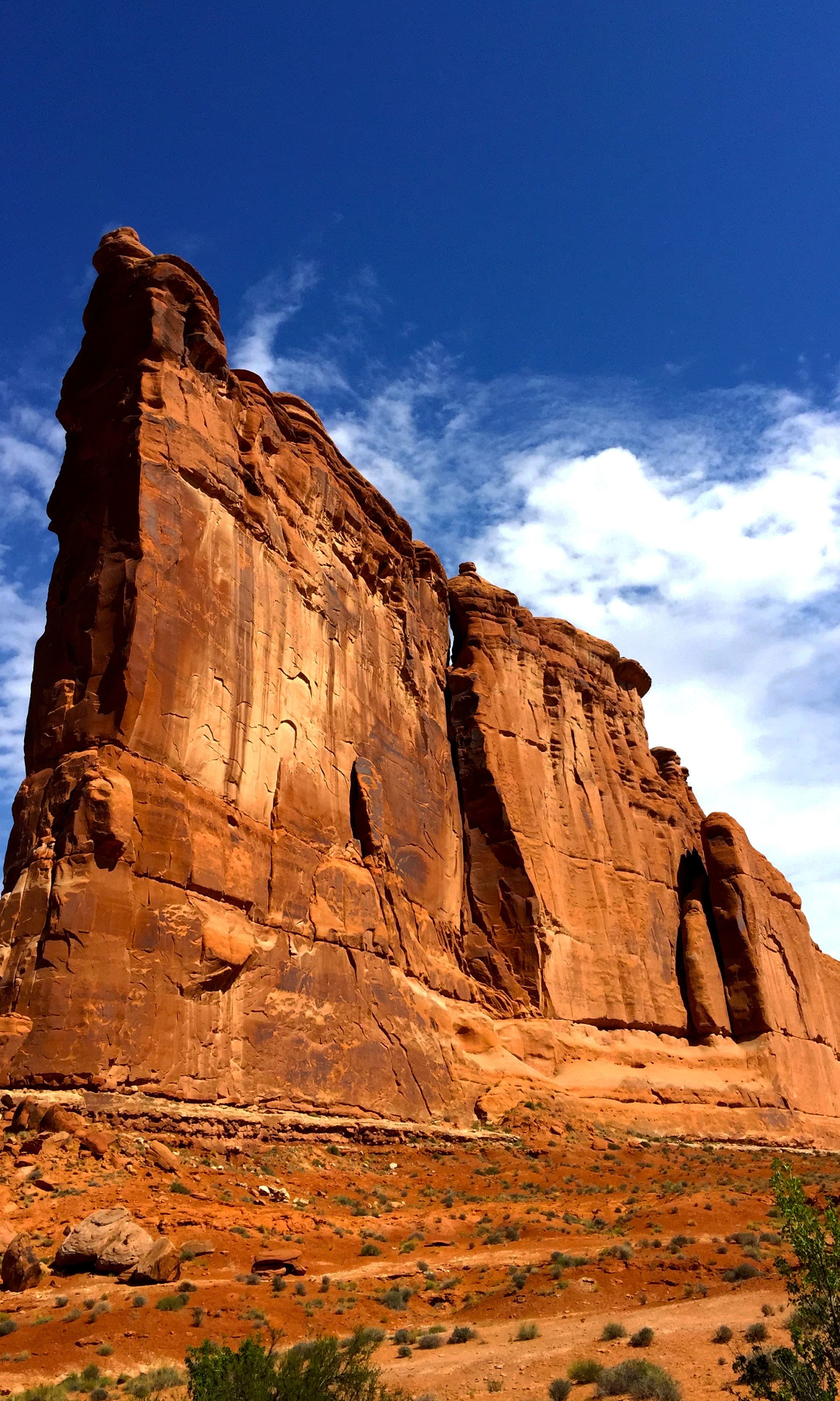 A lone standing rock in Arches National Park. —Hassan Majeed