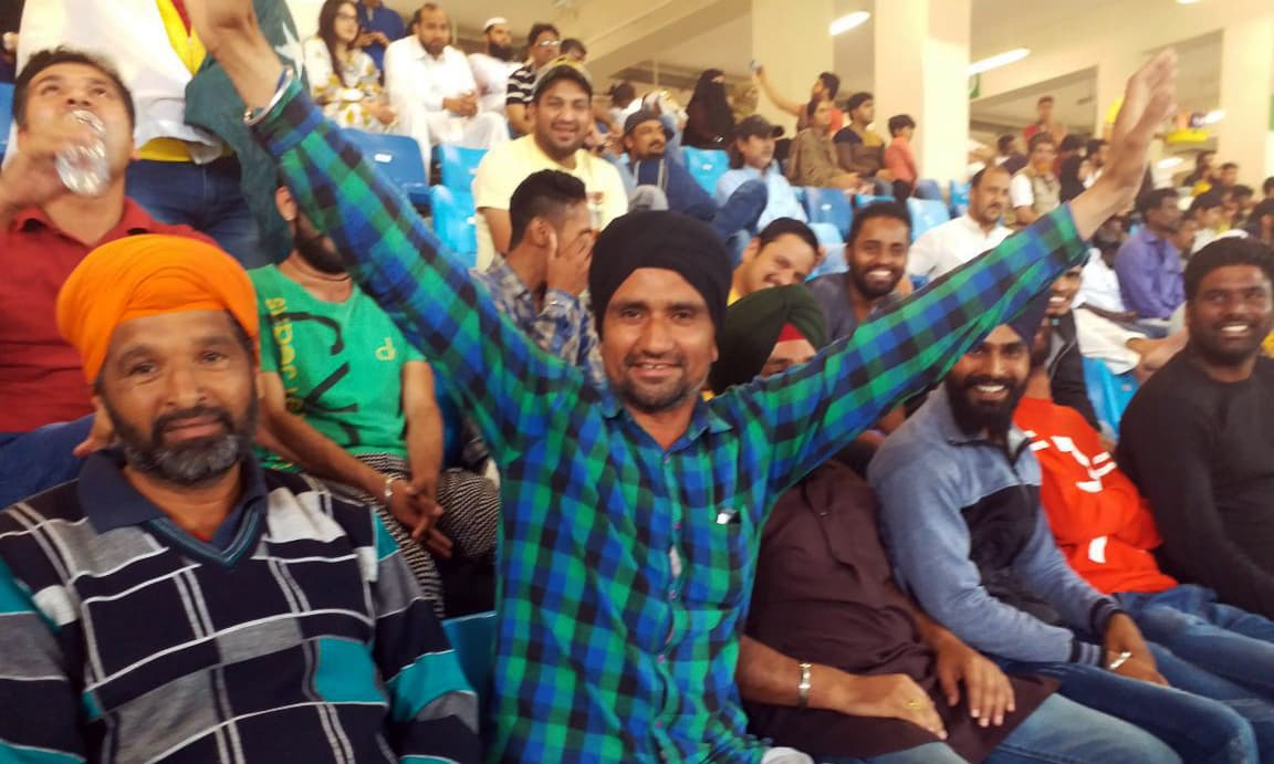 There is a shared enthusiasm among all Indian fans who are attending the PSL matches. —photo by author