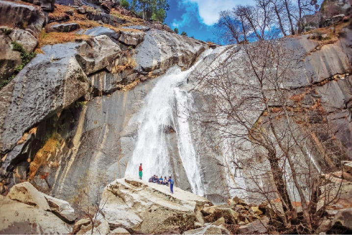 Charkhwa waterfall in Jambil valley, Swat. — Dawn