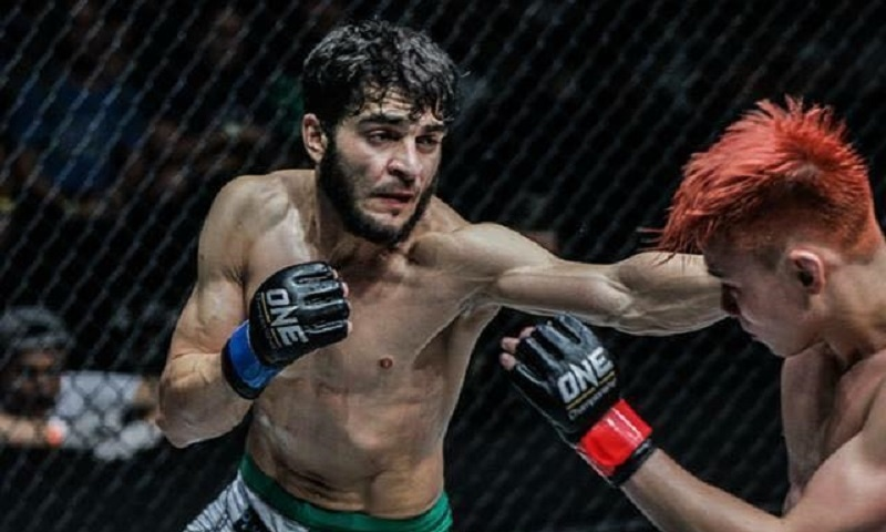 Ahmed Mujtaba in action — ONE FC