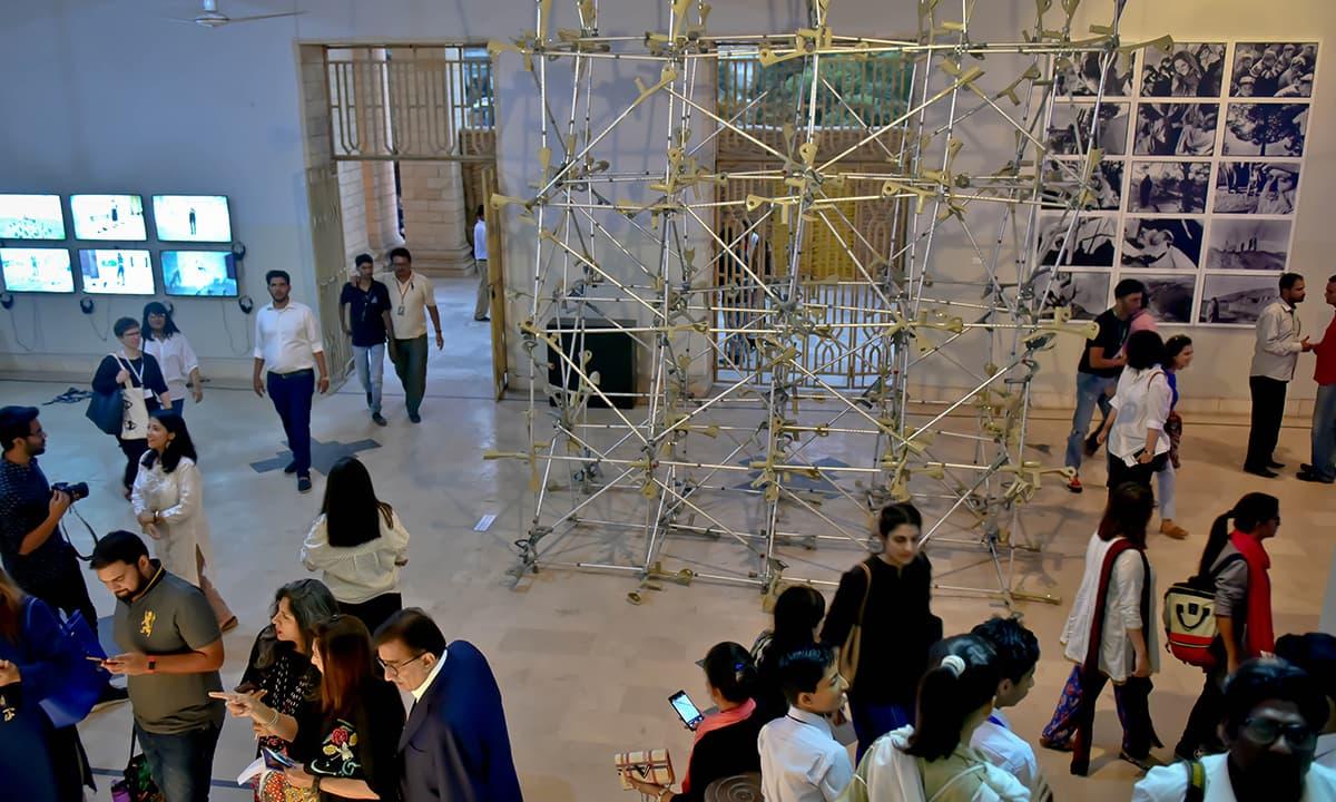 An art installation at the Karachi Biennale 2017 | Fahim Siddiqui, White Star