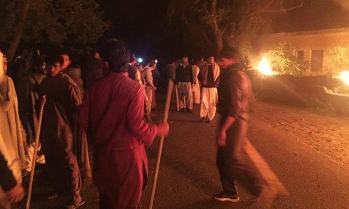 Rioters set fire to a factory in  2015 in Jhelum district on hearing rumours that an employee had desecrated the Quran  | AFP