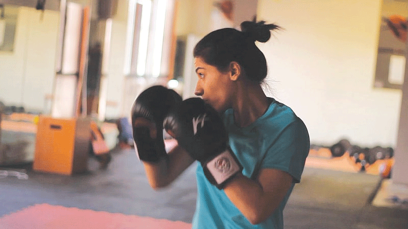 Since she is started, more and more people are learning about her, there are other girls too coming to the academy to learn and train in kickboxing.