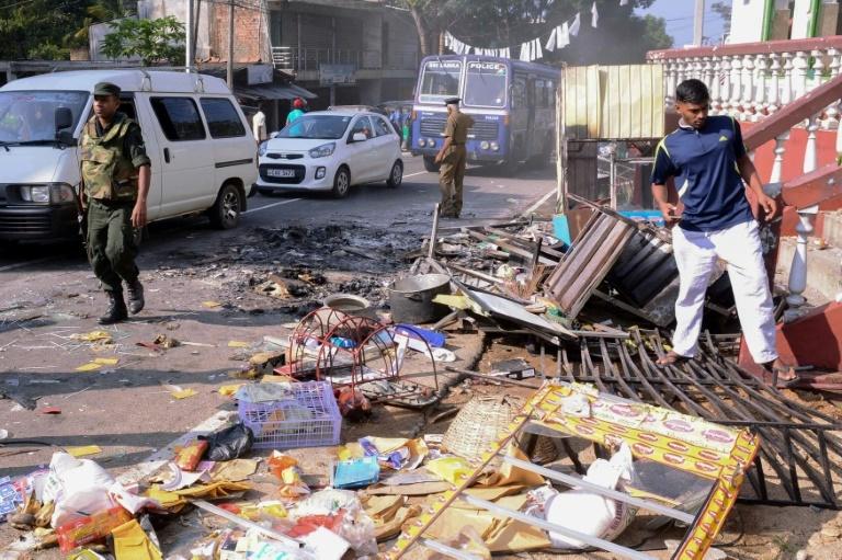 Anti-muslim riots of rocked Sri Lanka in recent weeks. ─ AFP