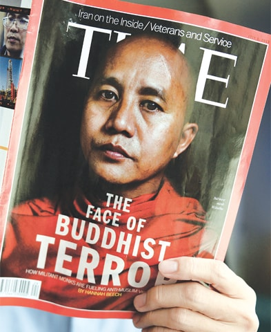 THE July 1 issue of Time magazine featured controversial Myanmar monk Ashin Wirathu, who is behind the anti-Muslim movement that has forced nearly 700,000 Rohingya Muslims into Bangladesh.—AFP