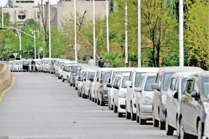 Drivers of the private cab service have parked their vehicles in protest on Wednesday. — White Star