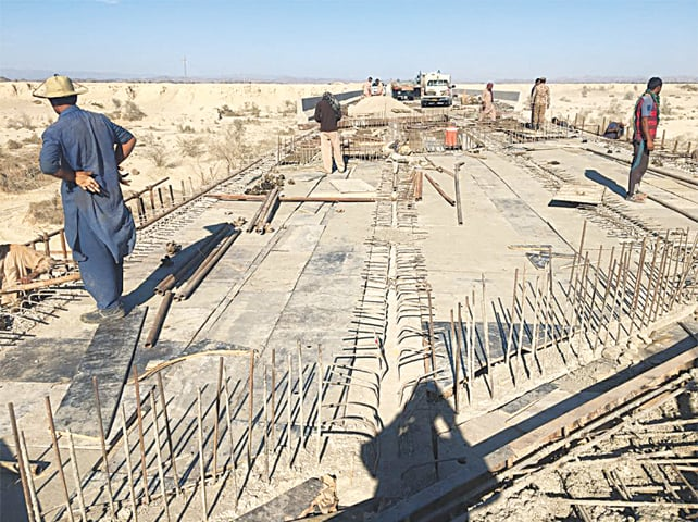 Work underway to repair and reconstruct Bridge 1, which lost two deck slabs in an insurgents' attack on November 30, 2016   NHA