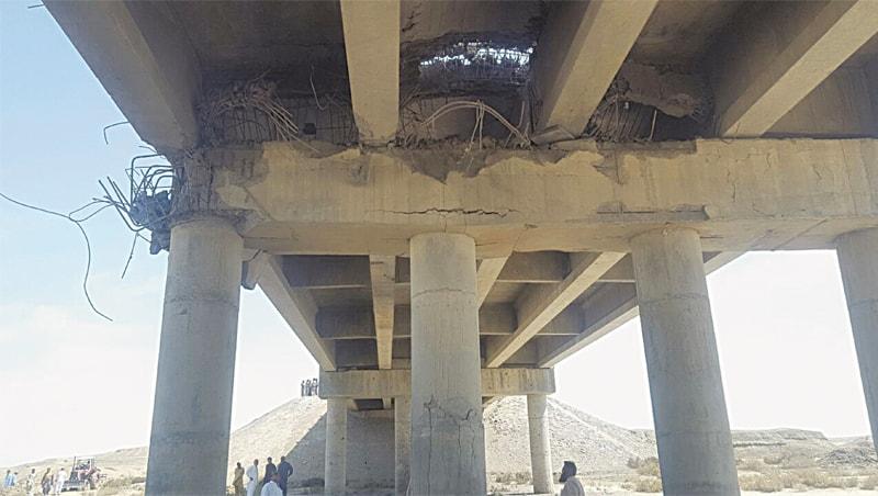The broken bridge in Nalient,  about 20 kilometres out of Karwat   NHA